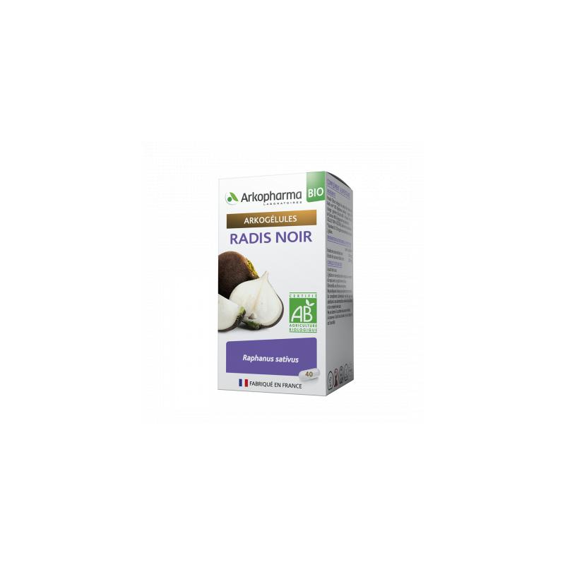 Arkogélules Bio Radis Noir Boîte de 45 gélules disponible sur Pharmacasse