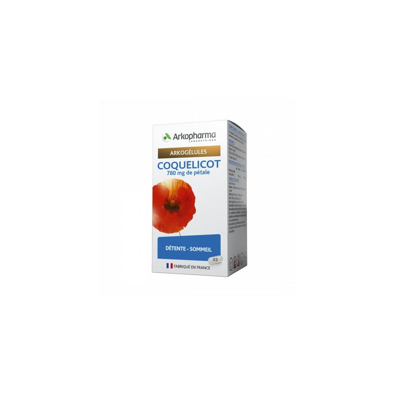 Arkogélules Coquelicot Boîte de 45 gélules disponible sur Pharmacasse