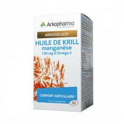 Arkogélules Huile de Krill et Manganèse Boîte de 45 gélules