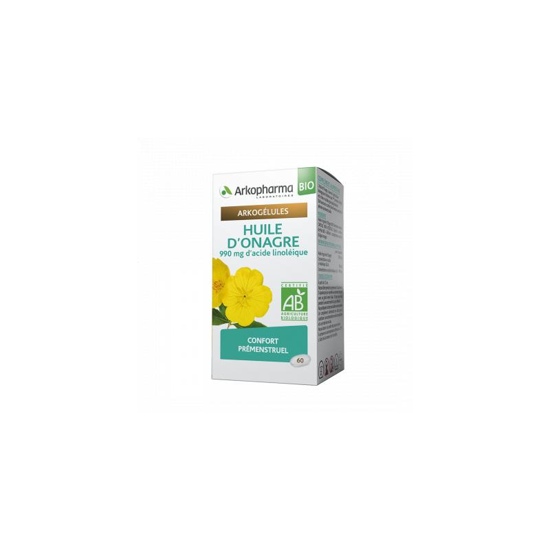 Arkogélules Huile d'Onagre Boîte de 60 capsules disponible sur Pharmacasse