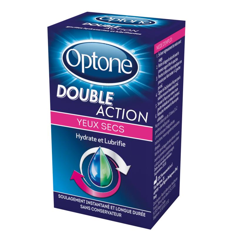 OPTONE Double Action Yeux Secs Flacon de 10ml disponible sur Pharmacasse
