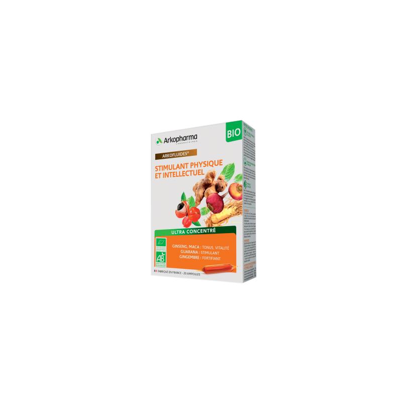 Arkofluides Stimulant Physique et intellectuel Boîte de 20 ampoules disponible sur Pharmacasse