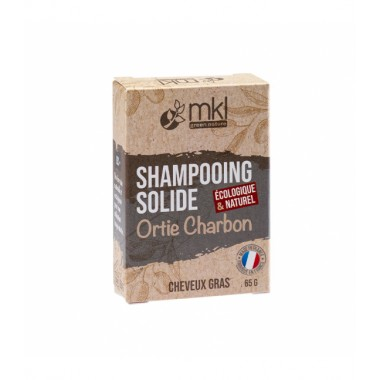 MKL Shampooing Solide Ortie Charbon 65g disponible sur Pharmacasse