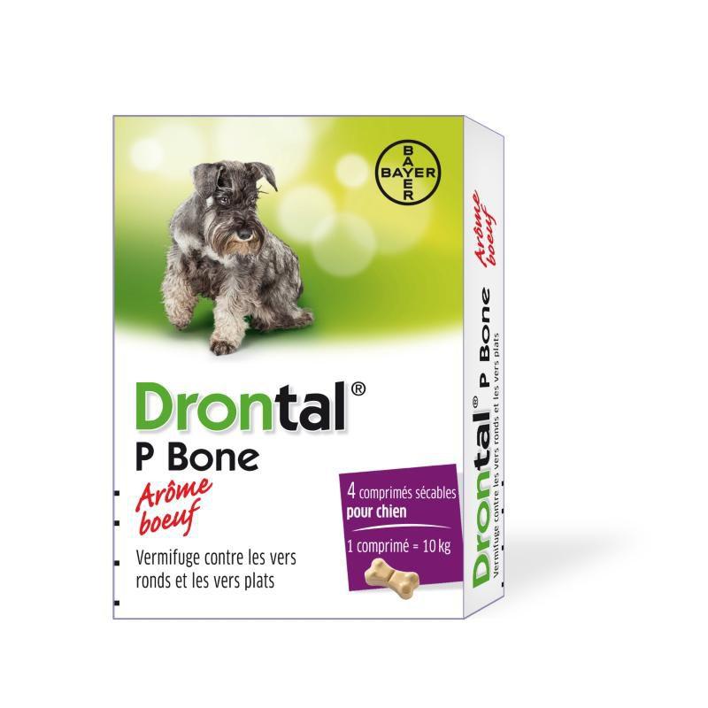 Drontal chien boite de 4 comprimés disponible sur Pharmacasse