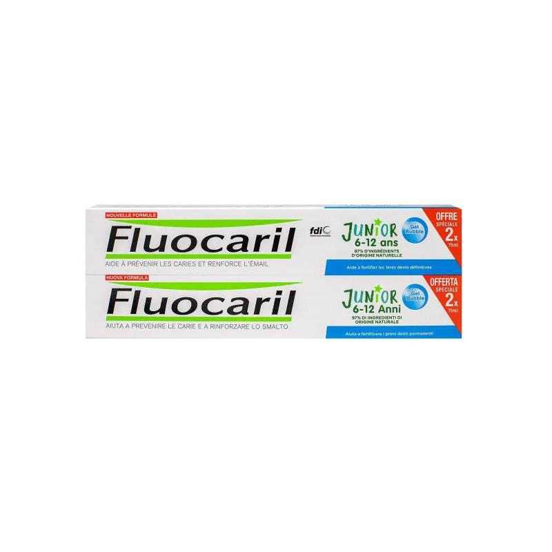 Fluocaril Junior 6-12 ans Dentifrice Gel Bubble 2x75 ml disponible sur Pharmacasse