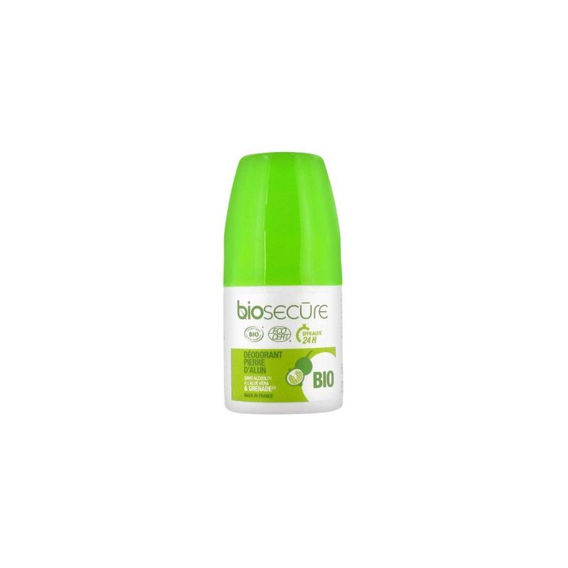 Biosecure Déodorant Pierre d'Alun à la Grenade Roll-on 50ml disponible sur Pharmacasse