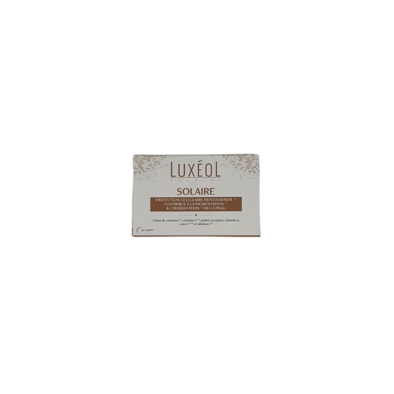 Luxéol Solaire Boîte de 30 capsules disponible sur Pharmacasse