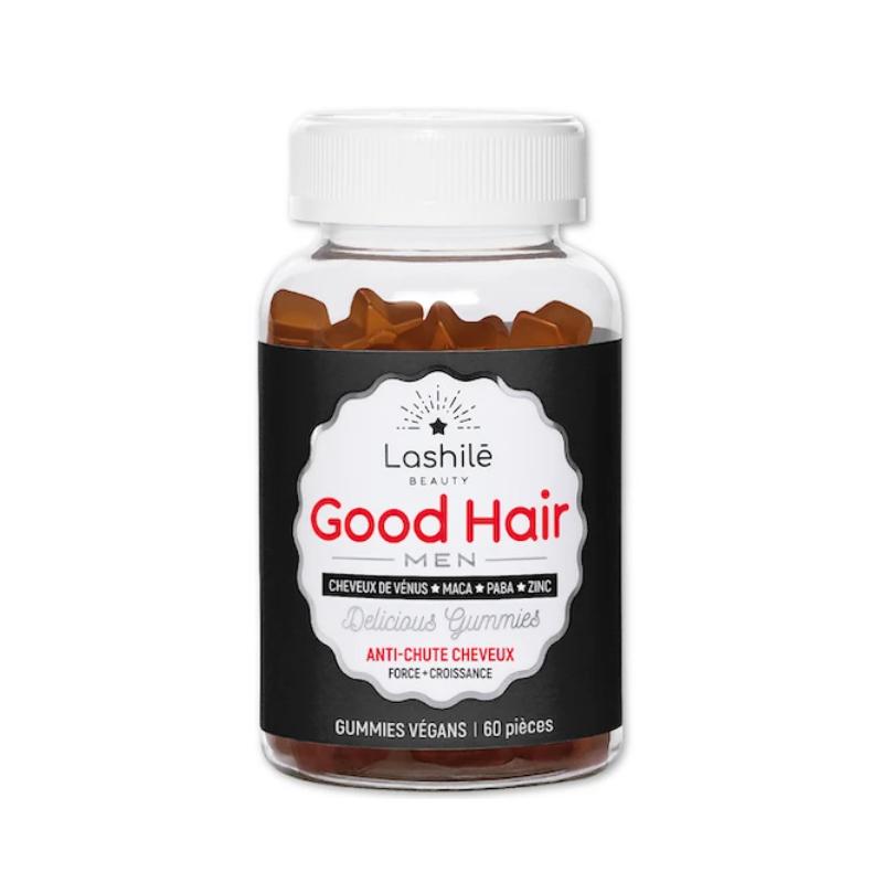 Lashilé Beauty Good Hair Men 60 Gummies Vegan disponible sur Pharmacasse