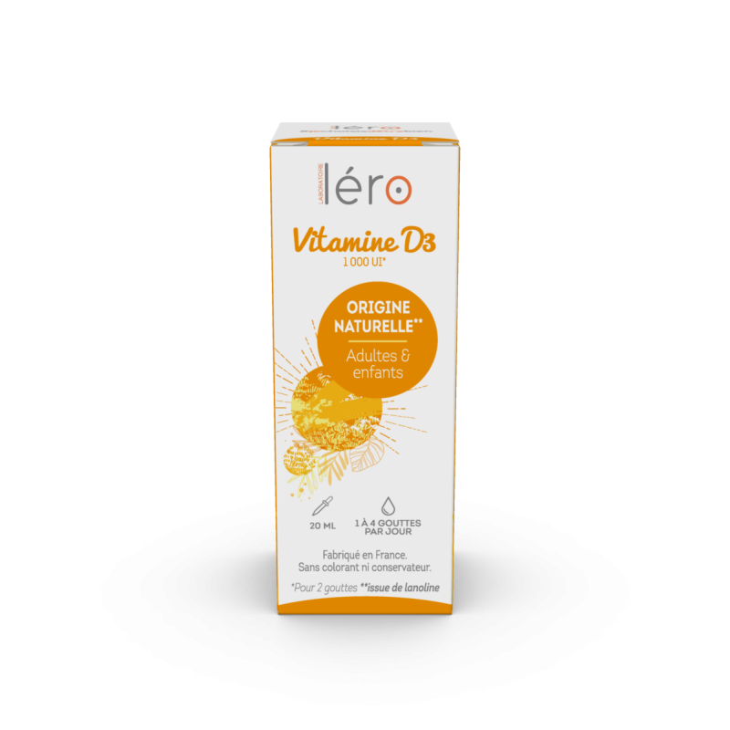 Léro Vitamine D3 d'Origine Naturelle 20ml disponible sur Pharmacasse
