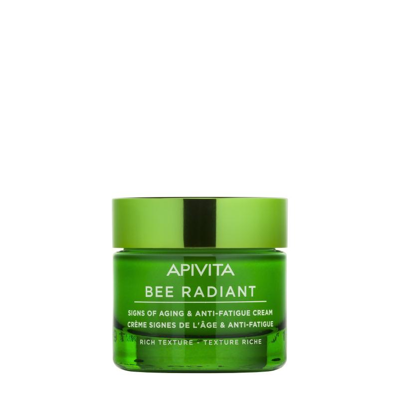 Apivita Bee Radiant Crème Anti-âge et Anti-fatigue Texture Riche 50ml disponible sur Pharmacasse