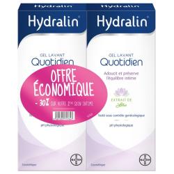 Hydralin Gel Lavant Quotidien Lot de 2x200ml