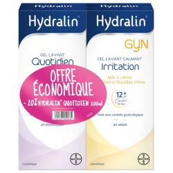 Hydralin Gyn Gel Lavant Calmant 200ml + Hydralin Gel Lavant Quotidien 200ml