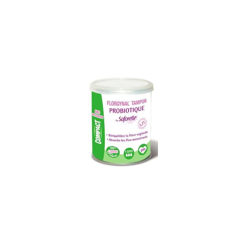 FLORGYNAL tampon probiotique avec applicateur compact super boîte de 9 disponible sur Pharmacasse