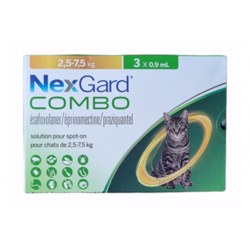 Nexgard Combo 2,5 à 7,5kg...