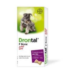 Drontal p Bone - 6 comprimés sécables pour chien - arôme boeuf