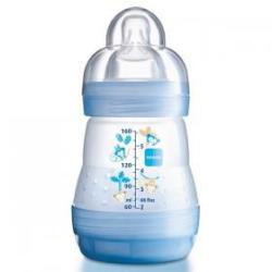 MAM biberon anti-colique 160ml bleu tétine débit 1