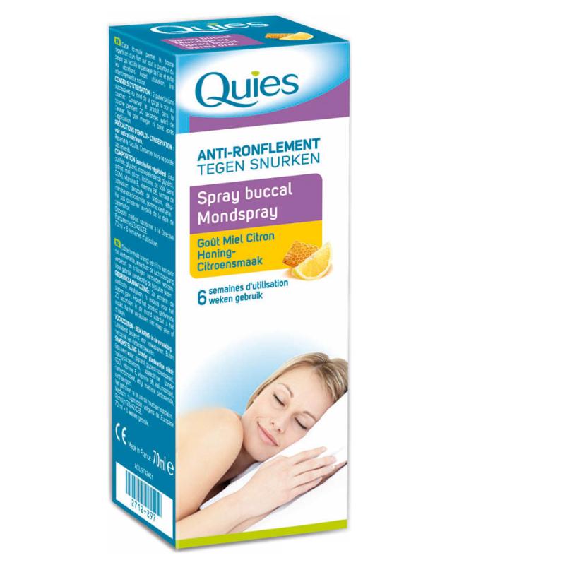 QUIES Spray buccal anti-ronflement  70ml disponible sur Pharmacasse