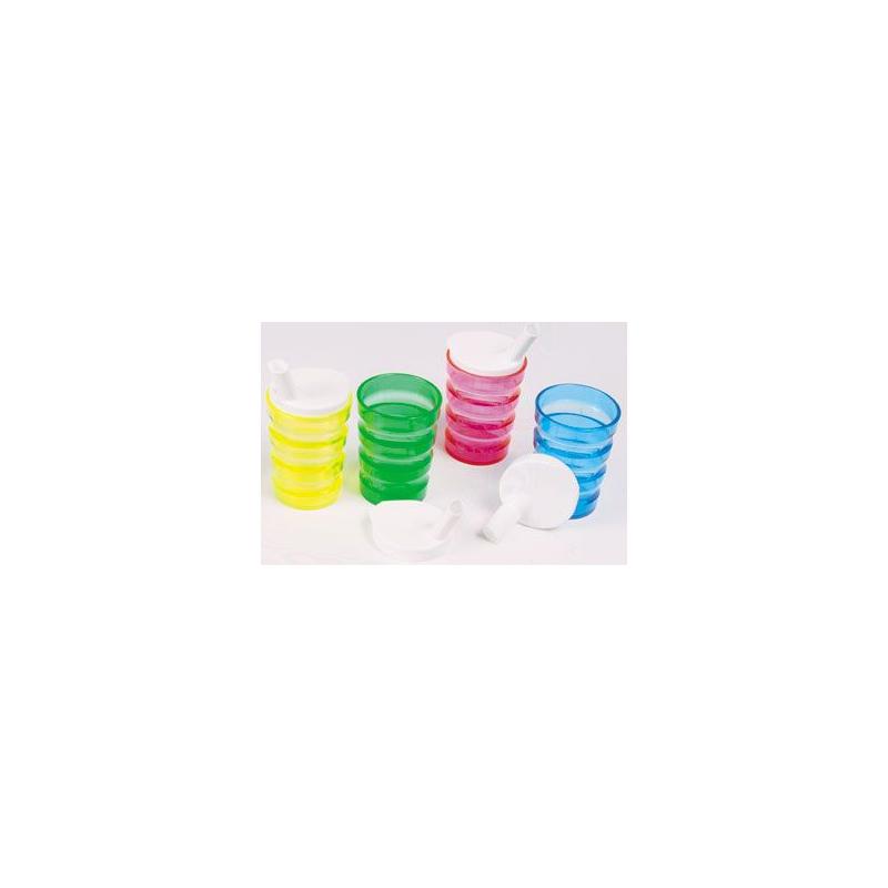 Lot de 4 tasses iso néon disponible sur Pharmacasse