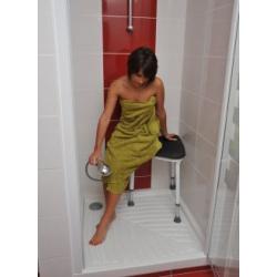 Tabouret d'angle pour douche confort sumatra