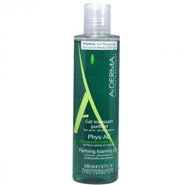 A-DERMA Phys-AC Gel moussant purifiant 200ml