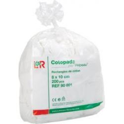COTOPADS RECTANGLES DE COTON 8X10CM - 200 PIÈCES