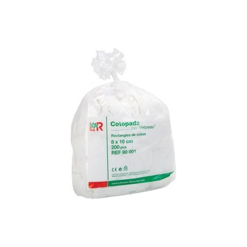 Cotopads  Rectangle De Coton 8X10CM 200 pièces disponible sur Pharmacasse