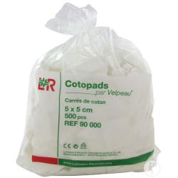 Cotopads Carré de Coton 5x5cm 500 pièces