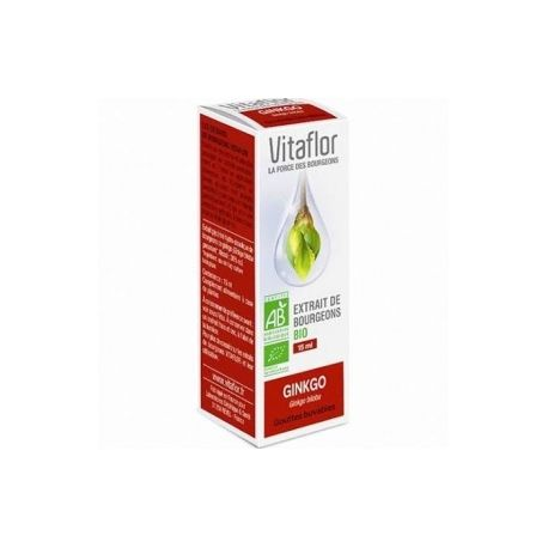 VITAFLOR Bourgeons Gingko 15ML disponible sur Pharmacasse