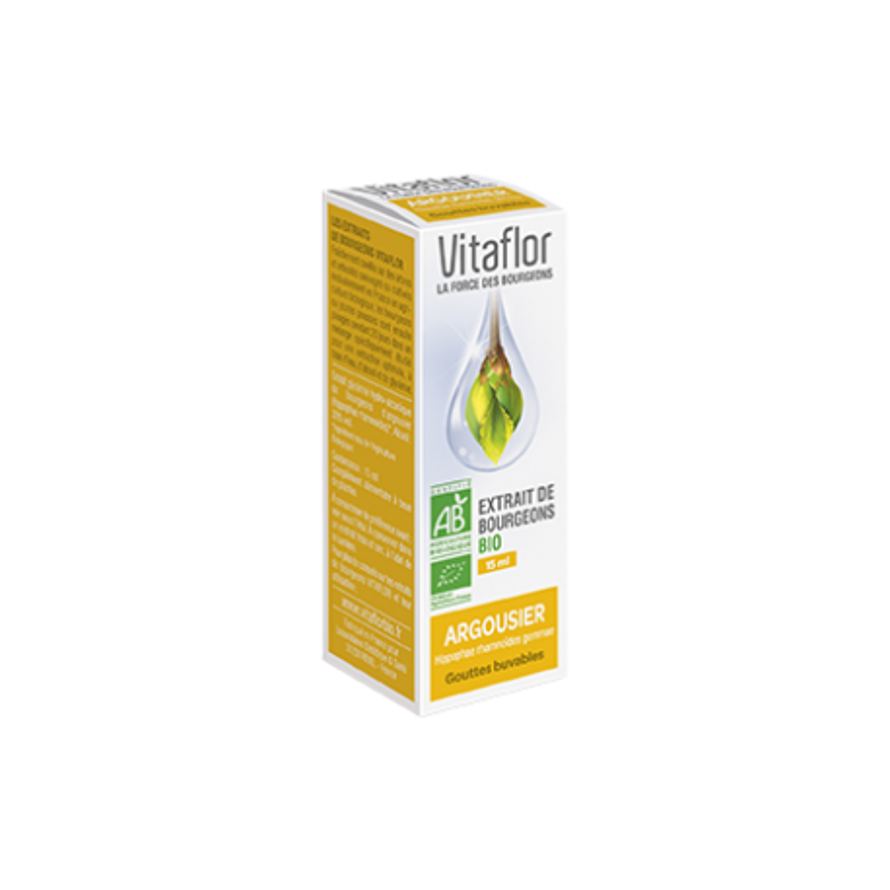 VITAFLOR Bourgeon Argousier 15 ML disponible sur Pharmacasse