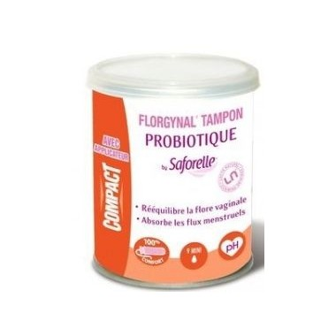 FLORGYNAL Tampon Probiotique MINI AVEC APPLICATEUR - 9 TAMPONS