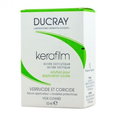 DUCRAY Kerafilm, Solution pour application locale Verrucide et Coricide, 10ml