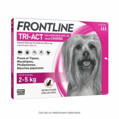 Frontline tri-act chien 2-5 kg 3 pipettes
