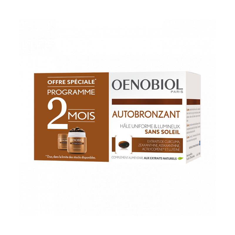 Oenobiol Autobronzant Lot de 2x30 capsules disponible sur Pharmacasse