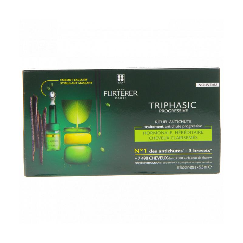 FURTERER - Triphasic Progressive Rituel Anti-Chute 8 flaconettes de 5,5ml disponible sur Pharmacasse
