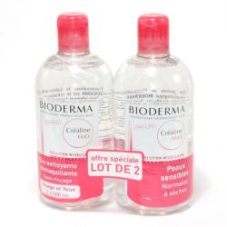 BIODERMA Créaline H20 500ml LOT de 2