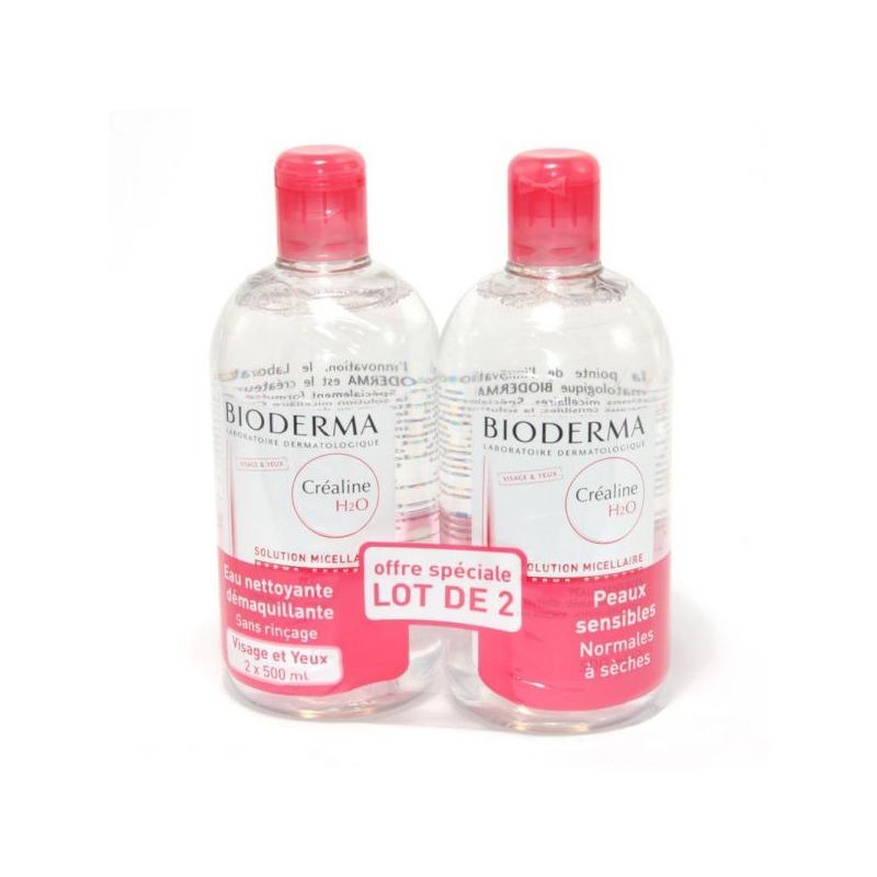 BIODERMA Créaline H20 500ml LOT de 2 disponible sur Pharmacasse