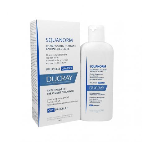 DUCRAY SQUANORM Shampoing pellicules grasse 200ml disponible sur Pharmacasse
