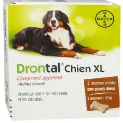 Drontal XL chien boite de 2 comprimés