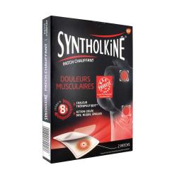 SyntholKiné Patch Chauffant Douleurs Musculaires Dos/Nuque/Épaules 2 Patchs