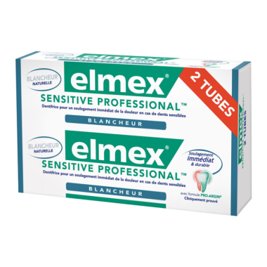 ELMEX SENSITIVE Professional blancheur 75ml Lot de 2