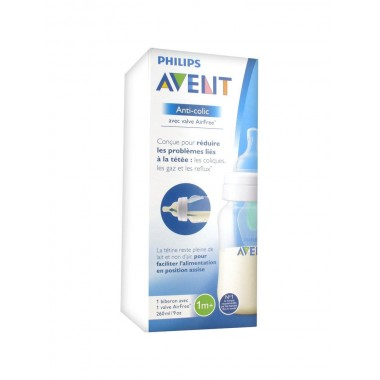 Biberon Natural Débit Lent Philips Avent 260 ml 1m+
