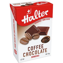 HALTER Bonbons sans sucre café chocolat 36G
