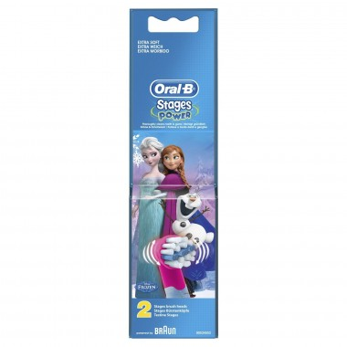 ORAL-B Stages power brossettes de rechanges Reine des neiges