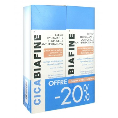 CICABIAFINE Crème Hydratante Corporelle Anti-irritations Lot de 2 x 200 ml