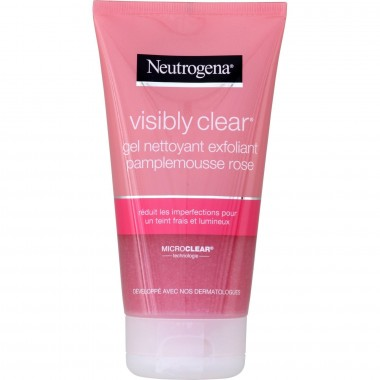NEUTROGENA Visibly Clear Gel Nettoyant Exfoliant Pamplemousse Rose 200ml