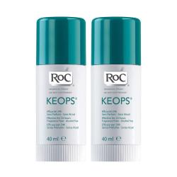 ROC Keops Déodorant Stick Lot de 2 x 40 ml
