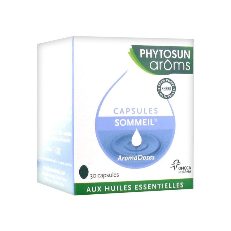 Phytosun Aromadoses Sommeil Relaxation 30 Capsules disponible sur Pharmacasse