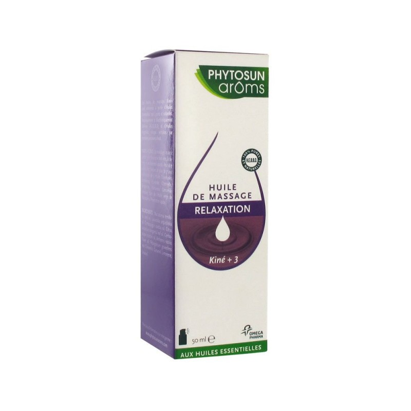 Phytosun Aroms Kiné+ Relaxation 50 ml disponible sur Pharmacasse
