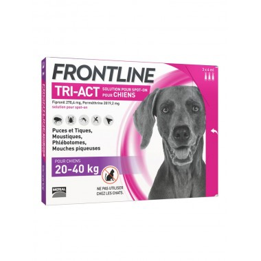 Frontline tri-act chien 20-40 kg 3 pipettes