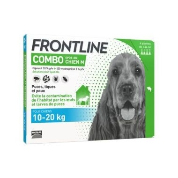 Frontline combo chien m 10-20kg 4 pipettes